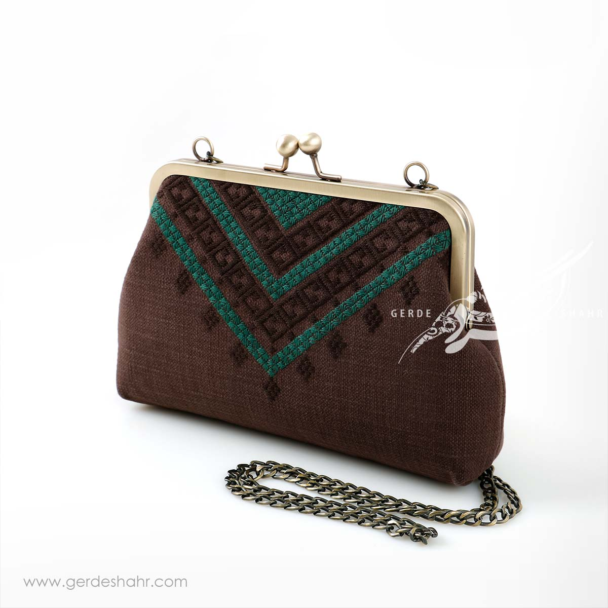 کیف بنددار قهوه ای لچک راژانه-rajane