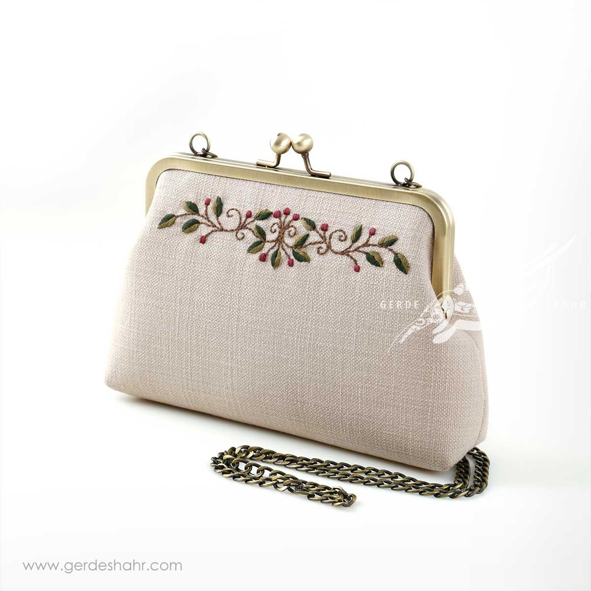 کیف بنددار کرم نوگل راژانه-rajane