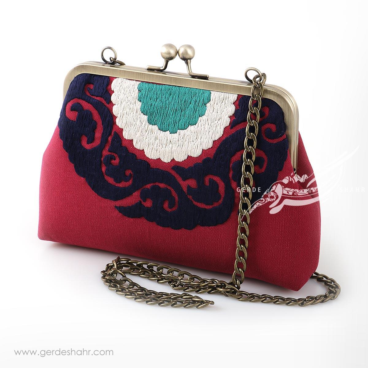 مشخصات، قیمت و خرید اینترنتی کیف بند دار زنانه مدل بخارا قرمز راژانه