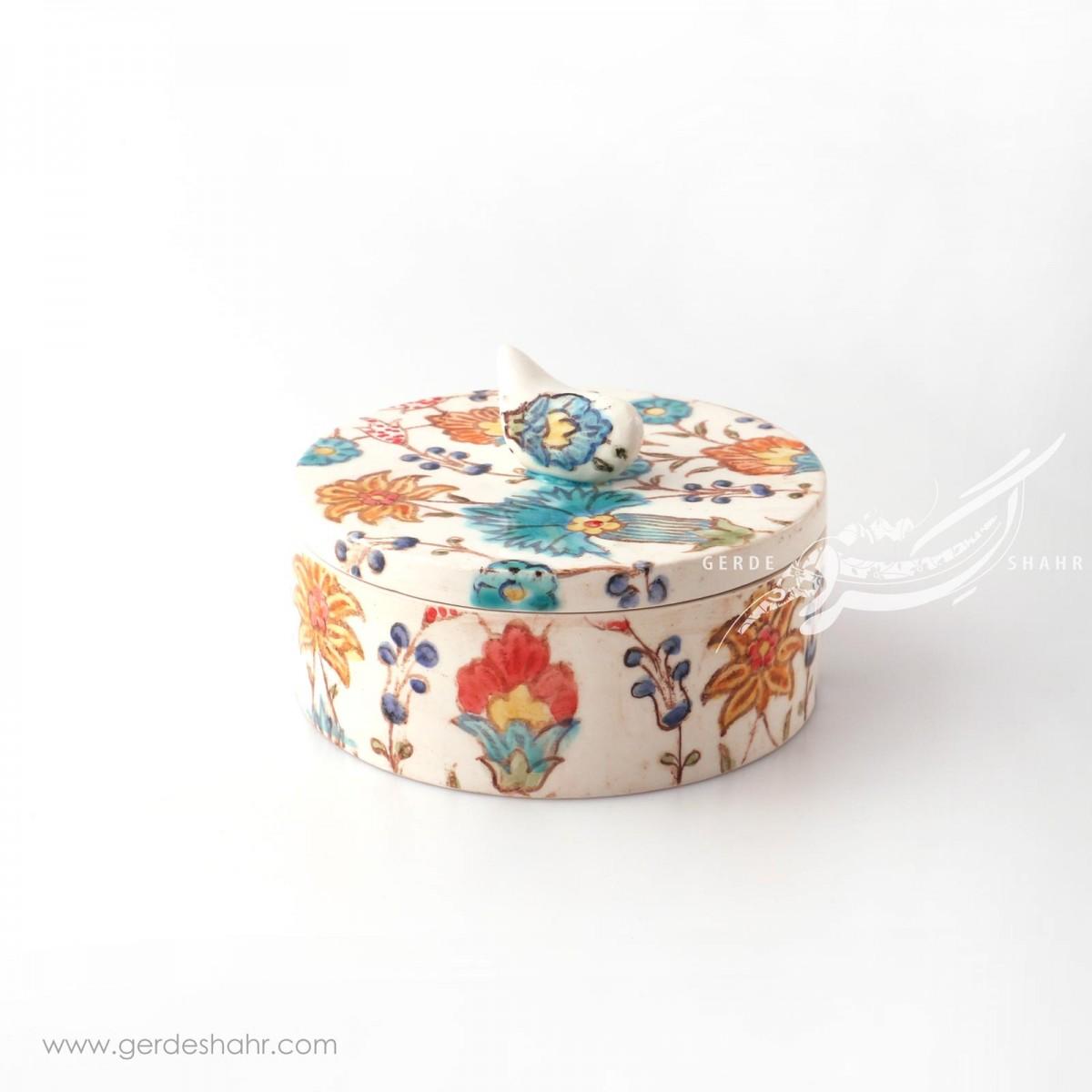 جعبه گرد درب دار قمری بهار 18 راستین محصولات