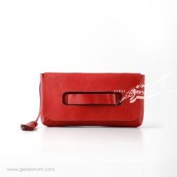 کیف کلاچ دستی چرم زنانه رومی گنجه رخت
