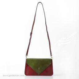 کیف چرم زنانه پاکت رومی گنجه رخت