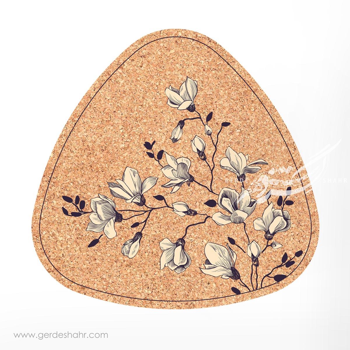 زیرقابلمه ای مثلث 30 گل مگنولیا  محصولات