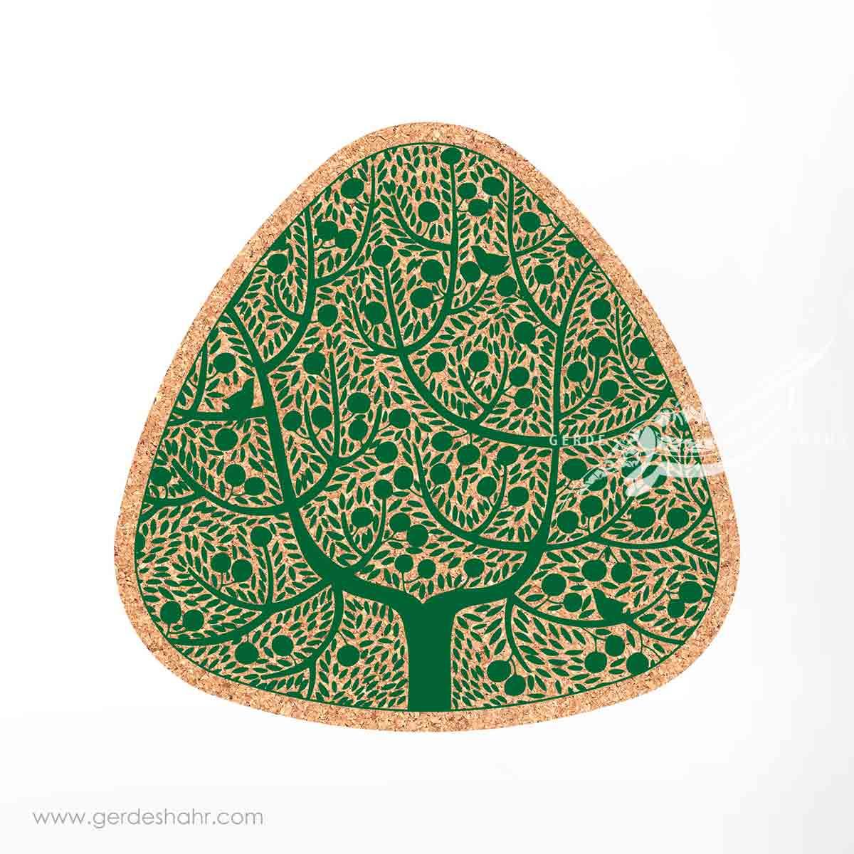 زیرقابلمه ای مثلث 25 درخت زیتون سبز محصولات