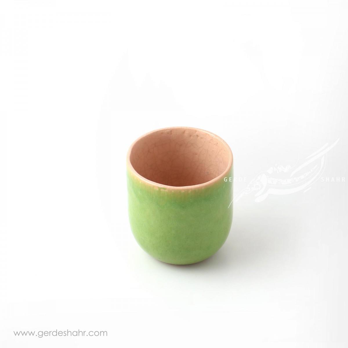 ظرف استوانه ای کوتاه سبز روشن ماه فروز محصولات
