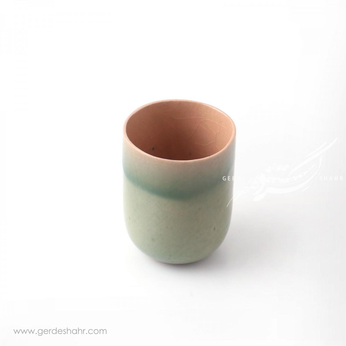 ظرف استوانه ای سبز آبی ماه فروز محصولات