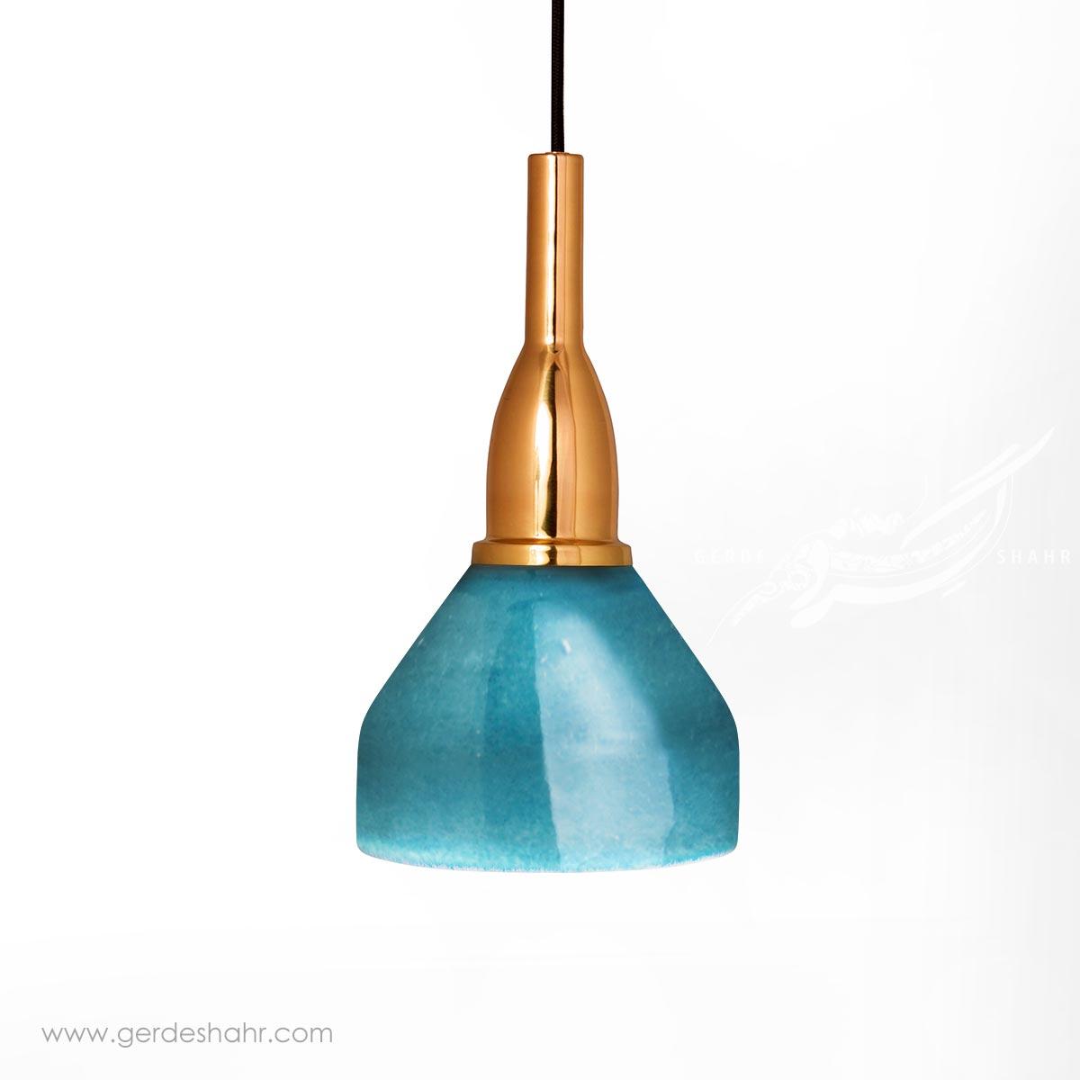 آویز روشنایی گردسوز فیروزه ای کوچک تیروژ محصولات