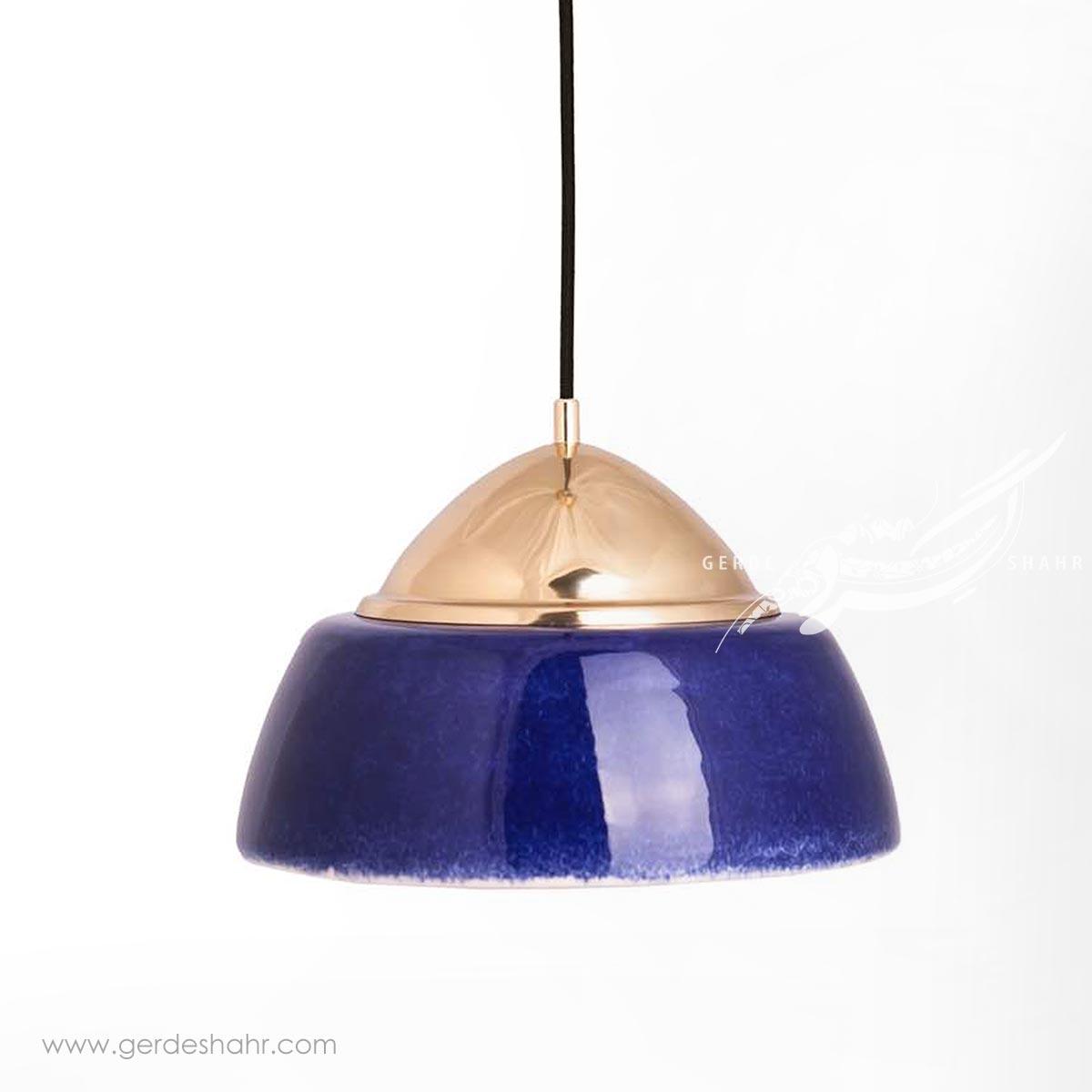 آویز روشنایی گنبد ایرانی لاجوردی بزرگ تیروژ محصولات