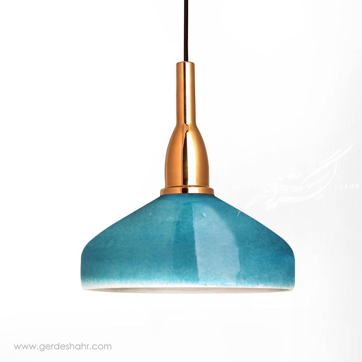 آویز روشنایی گردسوز فیروزه ای بزرگ تیروژ محصولات
