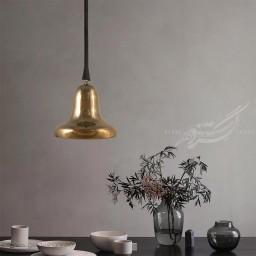 مشخصات، قیمت و خرید اینترنتی چراغ آویز سرامیکی زنگوله طلایی بزرگ تیروژ