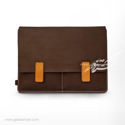 کیف 13 اینچ قهوه ای وریا گنجه رخت