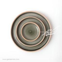 مجموعه بشقاب خاکستری زین دست محصولات