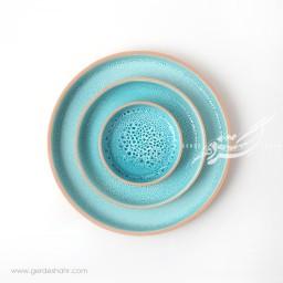 مجموعه بشقاب آبی جزیره زین دست محصولات