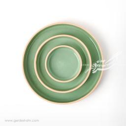 مجموعه بشقاب سبز روشن زین دست محصولات