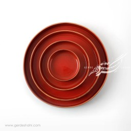 سرویس بشقاب های سرامیکی قرمز فروردین زین دست محصولات