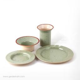 سرویس ظروف سرامیکی سبز سدری خرداد زین دست محصولات